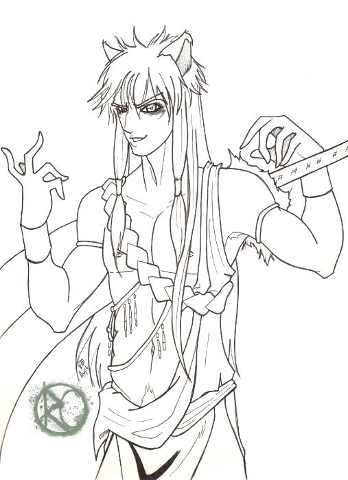 LineArt: Kami of Greed: Inuyasha