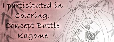 Concept Battle Kagome Coloring Banner
