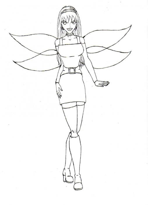 Aurora Antheia Raine Dokugasona- Line Art
