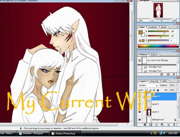 Current WIP for Cry Me a River, Oneshot