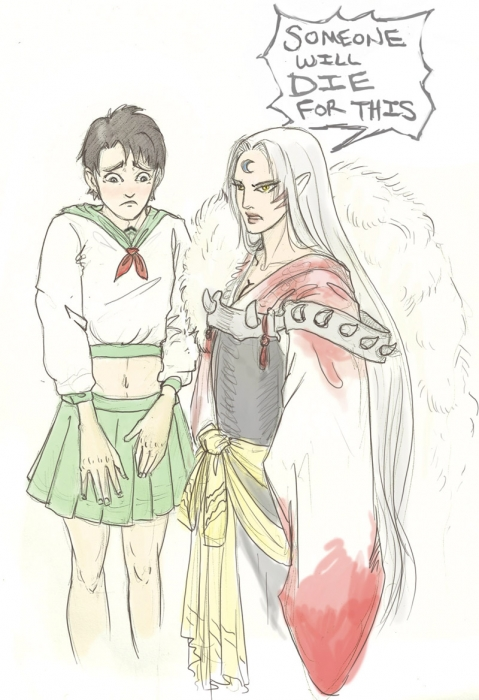 GB Kagome and Sesshoumaru