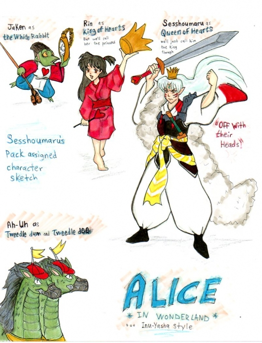 Alice Inuyasha style sketch Colour