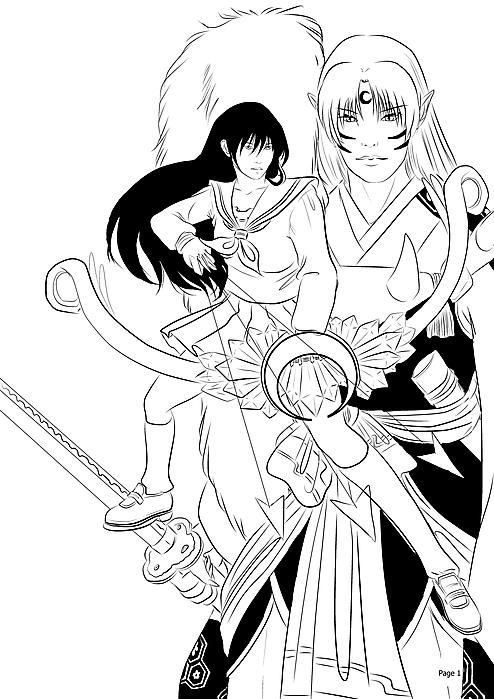 The Daiyoukai and the Shikon no Miko WIP