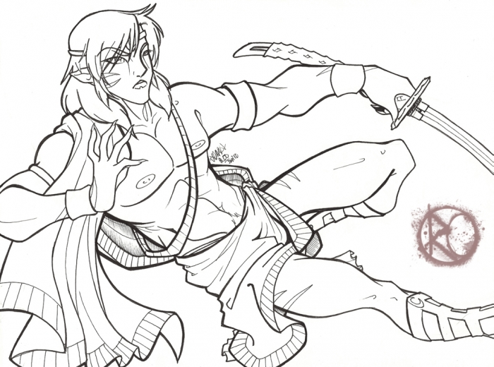 LineArt: Kami of War: Sesshomaru