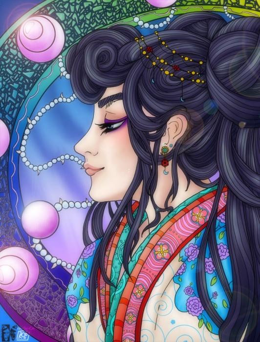 Shrii's La signora della Luna: Color by r0o