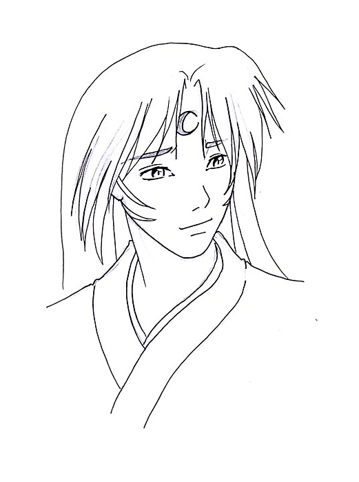 A very serene...Sesshomaru?