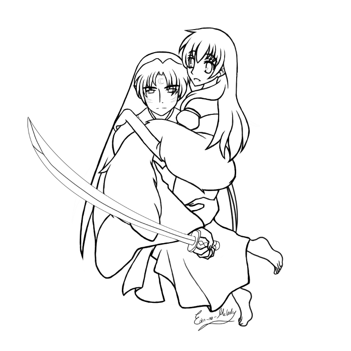 Someone to protect -lineart-