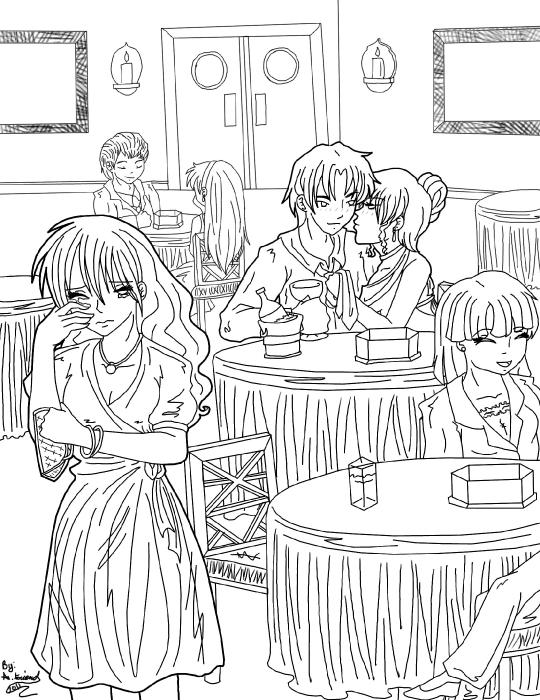 Table Away Line Art