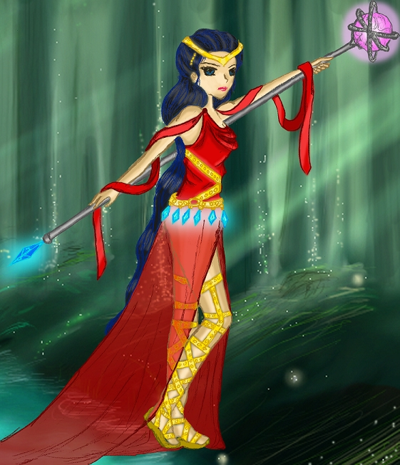 Kagome - Warrior Goddess (Colored)