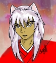 Inuyasha colored by Avadrea