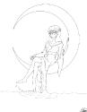 Tsuki Ai - Line Art