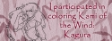 Coloring banner for Kami of the Wind: Kagura