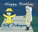 May Birthday Banner