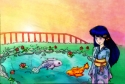 Sesshoumaru and kagome fishies