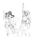 Gurren Lagann Cosplay - sketch