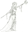 Warrior Goddess Sketch (Cleaner)
