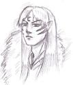 Sesshoumaru face detail