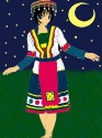 Ethnic Kagome Colored w/Background
