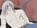 Shirtless Sesshoumaru (Colour)